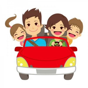 happy-family-car-illustration-cute-four-members-smiling-54812765